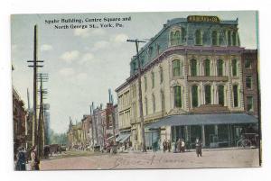 York PA N. George St Spahr Building Centre Square Postcard