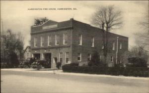Harrington DE Fire House Station Old Postcard