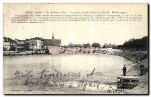 Old Postcard The Sense Nouverau Bridge View jack before the plant metallurgic...