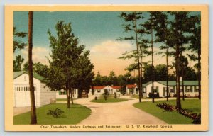 Kingsland Georgia~Chief Tomochichi Modern Cottages & Restaurant~Motel~1940 Linen