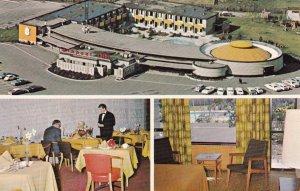 VANCOUVER, British Columbia, Canada, 1960s; 3-Views, Airport Inn, Classic Cars
