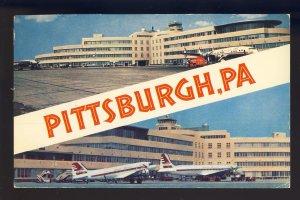 Pittsburgh, Pennsylvania/PA Postcard, Greater Pittsburgh Airport, Terminal, 1958