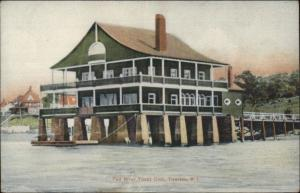 Tiverton RI Fall River Yacht Club c1910 Postcard