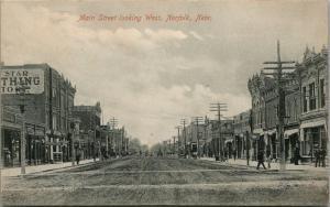 Norfolk Nebraska~Main Street~Star Store~Calumet Restaurant~Beeler Dry Goods~1908