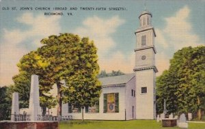 Old Saint Johns Church Broad And Twenty Fifth Street Richmond Virginia