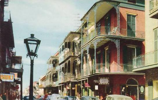 Louisiana New Orleans Saint Peter Street 1959