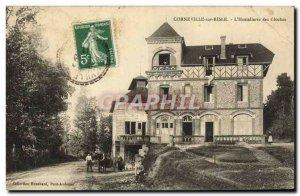 Old Postcard Corneville Sur Risle the & # 39Hostellerie The Bells