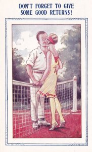Tennis Comic, Don't forget to give some good returns!, Couple kissing, 00-10s