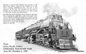 1949 Chicago Illinois Railroad Fair Train Union Pacific 5790