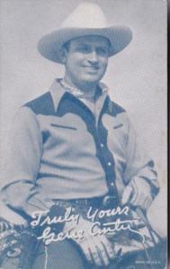 Vintage Cowboy Arcade Card Gene Autry