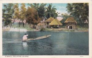 Philippines Village Scene A Banca Curteich