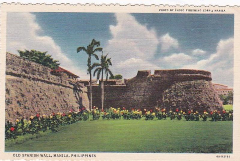 Philippines Manila Old Spanish Wall Curteich