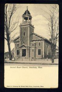 Amesbury, Massachusetts/MA/Mass Postcard,Sacred Heart Church