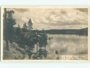Pre-1930 rppc NICE VIEW Big Bear Lake California CA i9531