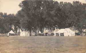 F24/ Clarinda Iowa Real Photo RPPC Postcard 1911 Lakin Tent Camp