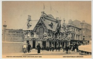 London; The Fox & Hounds, May 1896 Repro PPC, Unused, By Croydon Libraries