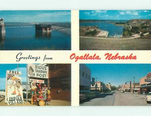 Unused 1989 NATIVE INDIAN TRADING POST & SHOPS Ogallala Nebraska NE t4870