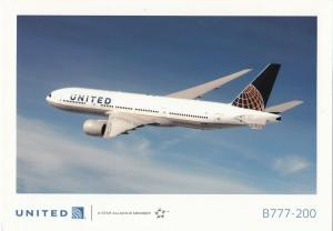 UNITED B777-200 Jet Airplane , 80-90s