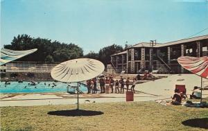 Fort Stockton Texas~Kids Line Up by Swimming Pool~Comanche Springs~1960 Postcard