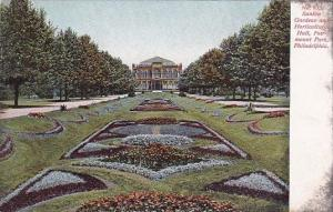 Pennsylvania Philadelphia No 935 Sunken Gardens And Horticultural Hall Fairmo...