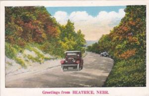 Nebraska Greetings From Beatrice Country Road Scene
