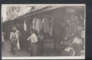 Tanzania Postcard - Shops on The Main Street, Zanzibar    T2562