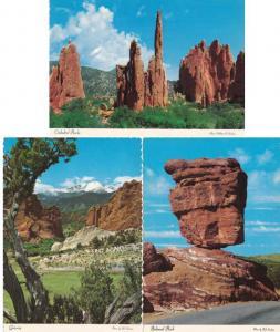 (3 cards) Garden Of The Gods CO, Colorado