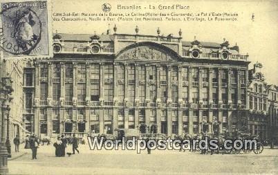 La Grand Place Bruxelles, Belgium 1920 Stamp on front
