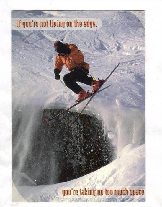 Extreme snow skiing , 1990s