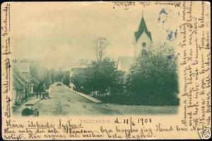 sweden, ENGELHOLM ÄNGELHOLM, Street Church (1901) Stamp