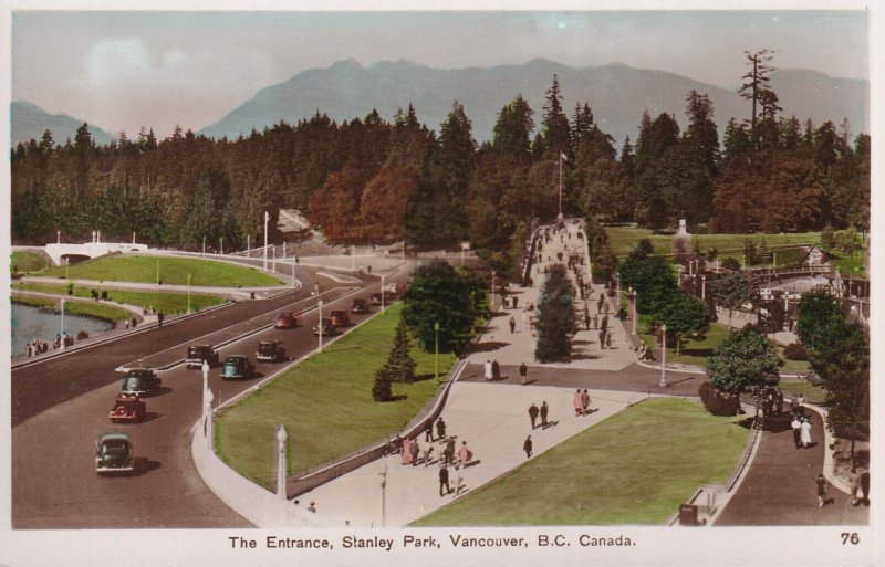 RP; VANCOUVER, British Columbia, Canada, 1930-1940s; The Entrance, Stanley Park