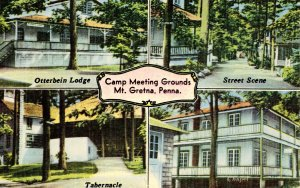 PA - Mount Gretna. Camp Meeting Grounds (Multi-View)