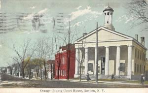 Goshen New York Orange Court House Street View Antique Postcard K33399