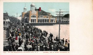 Boardwalk, Atlantic City, N.J., 1902  Postcard, Unused, Detroit Photographic Co