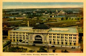 Canada - Manitoba, Winnipeg. Canadian National Railway Station
