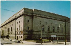 Cleveland Public Auditorium, Ohio, 1950s unused Postcard