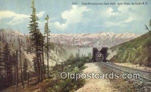 Train and Snow Sheds, Ogden, Utah, UT USA Trains, Railroads Unused light wear