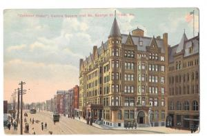 York PA Colonial Hotel Centre Square So George St Postcard