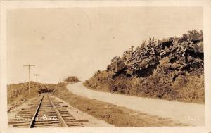 Nielen-Cincinnati Ohio~Road Runs Parallel To Railroad Tracks RPPC 1923