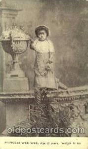 Princess Wee Wee Age 23 Weight 12 lbs, Black Circus Midget Postcard Post Card...