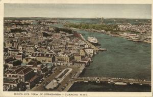curacao, N.W.I., WILLEMSTAD, Bird's Eye View of Otrabanda (1937) Stamp