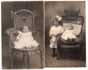 2 - RPPC, Babies in Fancy Chairs