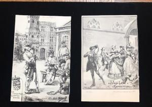 Leige BELGIUM 1905 Exposition Lot Of 2 Unmailed Postcards.