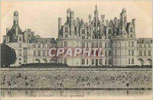 Old Postcard Chateau de Chambord Facade North