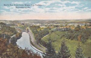 Pennsylvania Stroudsburg Bird's Eye View From Water Gap Trolley 1916