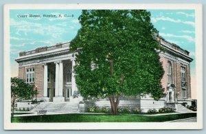 Sumter South Carolina~County Court House~Front & Side Entrances~1946 Postcard