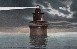 BOSTON, Massachussetts, 1900-1910's; Deer Island Lighthouse