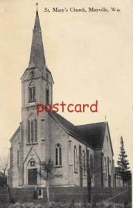 1916 MAYSVILLE WI St. Mary's Church, pm'd Horicon, to Miss Clara Frodel