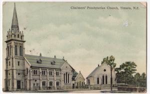 New Zealand; Chalmers Presbyterian Church, Timaru PPC, Kaiapoi CDS 1908 To GB