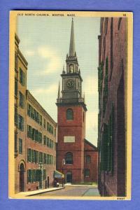 Boston, Mass/MA  Postcard, Old North Church, 1941!